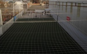 futbol 5 wilson completamente cerrado con redes de contencion